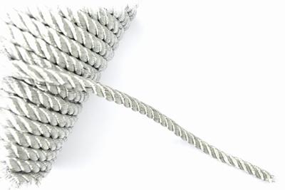 Sier- of Meubelkoord, synthetisch, Ø4mm, zilver, per meter