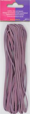Veterkoord, imitatieleer breedte 3mm lengte 5mtr, lila
