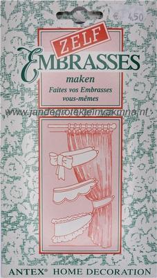 Embrasse pakket, geschikt voor 4 embrasses van 80cm