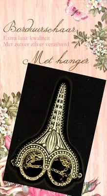 Borduurschaar met hanger, bladlengte 30mm, luxe kwaliteit