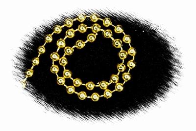 Parelkoord, goudkleur, ø 6mm, prijs per meter