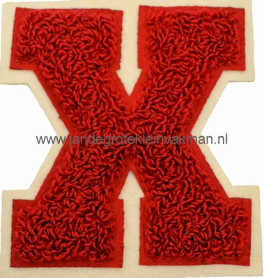 Baseball applicatie, letter X, rood