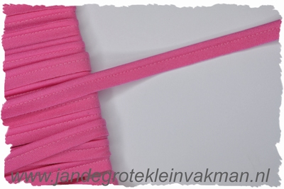 Pipingband, elastisch, 5mm breed, fuchsia, per meter