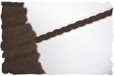 Gevlochten veterkoord, 5mm breed, d-bruin, per meter
