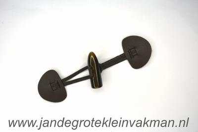 Houtje touwtje sluiting, ca. 160x45mm, kuntstleer