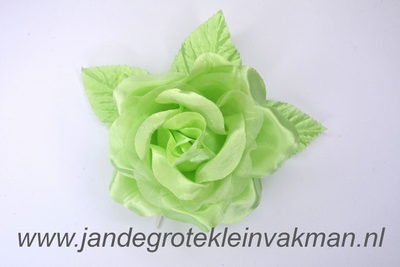 Bloem corsage op steel, groen