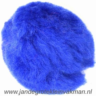 Pompon, synthetisch, ø ca. 50mm, kobaltblauw