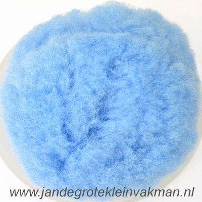 Pompon, synthetisch, ø ca. 50mm, lichtblauw