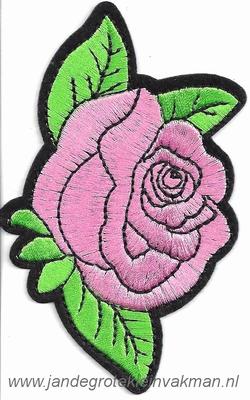 Opnaaibare bloemen applicatie, ca. 115x70mm