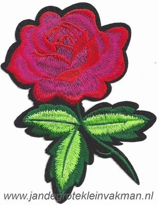 Opnaaibare bloemen applicatie, ca. 130x90mm
