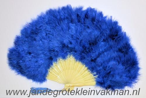 Veren waaier, prachitge kwaliteit, blauw