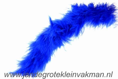 Maraboe band, ca. 45mm dik, blauw, per meter