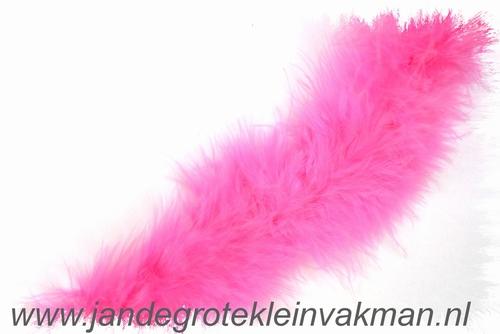 Maraboe band, ca. 45mm dik, roze, per meter