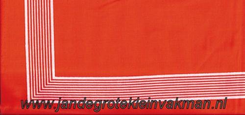 Bandana, streep motief, achtergrondkleur oranje