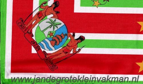 Bandana, Surinaams motief,  achtergrondkleur groen