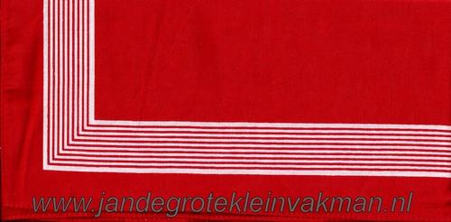 Bandana, streep motief,  achtergrondkleur rood