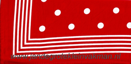 Bandana, polkadotmotief, achtergrondkleur rood