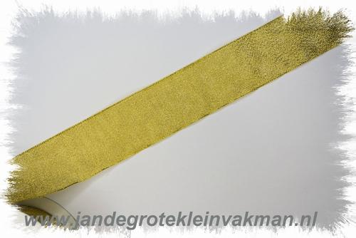 Lurex lint, 38mm breed, prijs per meter, goudkleur