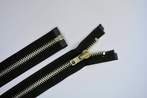 Deelb. rits, grof metalen tanden, 80cm, kleur 580, zwart
