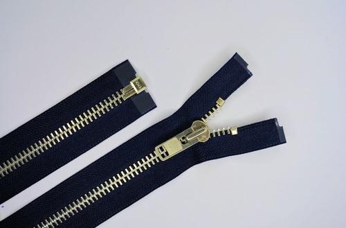 Deelb. rits, grof metalen tanden, 80cm, kleur 560, d blauw