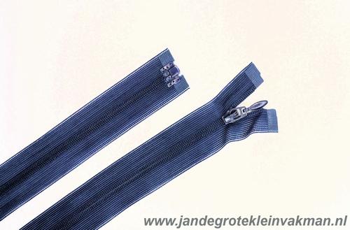 Blinde rits deelbaar, 55 cm, kleur 560, d blauw