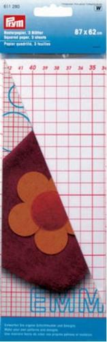 Prym ruitjes patroon papier, 3 vellen, 87x62cm