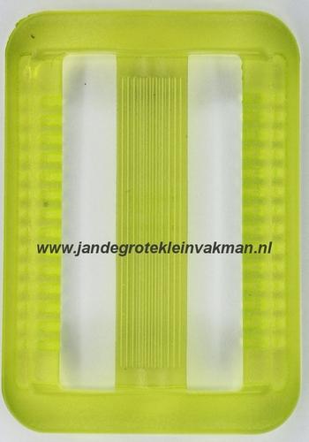 Gesp, kunststof, transparant groen, 40mm