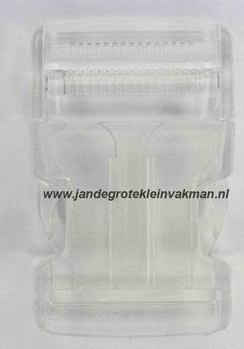 Insteekgesp, kunststof, 40mm, transparant