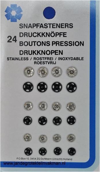 Naaidruk.assortiment 8-6-4 mm, 24 stuks
