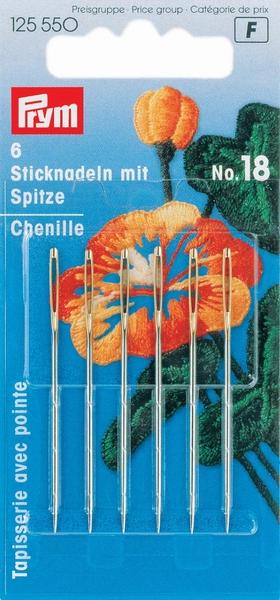 Prym borduurnaald met punt, no.18