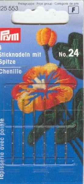 Prym borduurnaald met punt, nr. 24