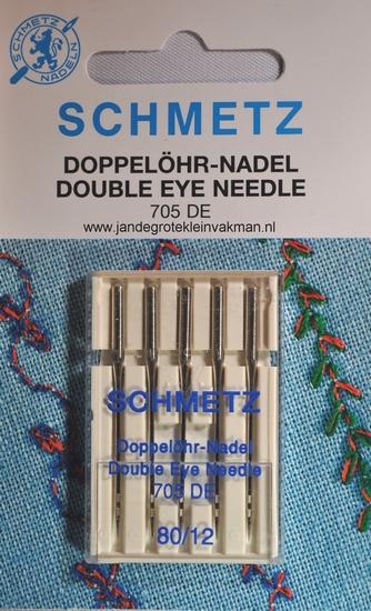 Schmetz naaimachine naalden, dubbeloog