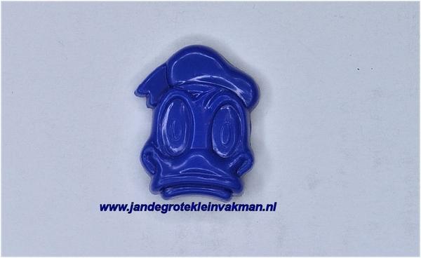 Kunststof knoopje blauiw ca.15mm Donald Duck