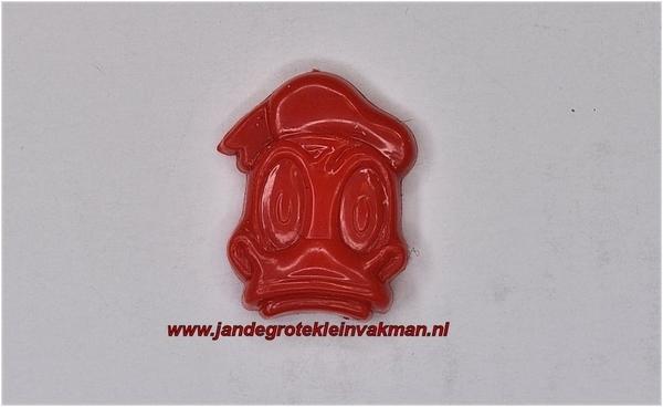 Kunststof knoopje rood ca.15mm  Donald Duck