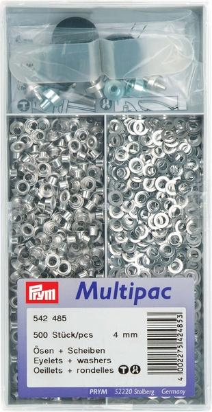 Prym zeilringen, zilverkleurig, 4mm (grote verpakking)