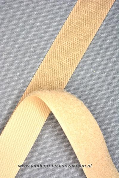 Klittenband YKK, opnaaibaar per meter, 20mm breed, beige
