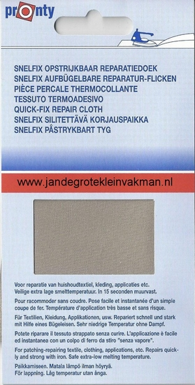 Pronty snelfix opstrijkb. reparatiedoek, beige