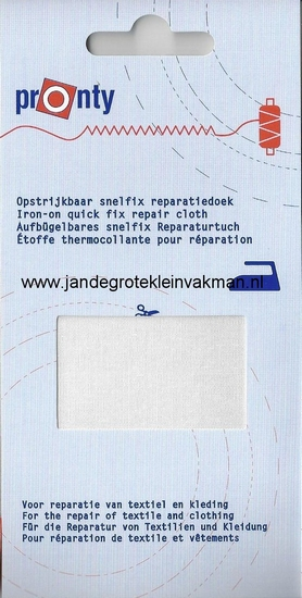 Pronty snelfix opstrijkb. reparatiedoek, wit