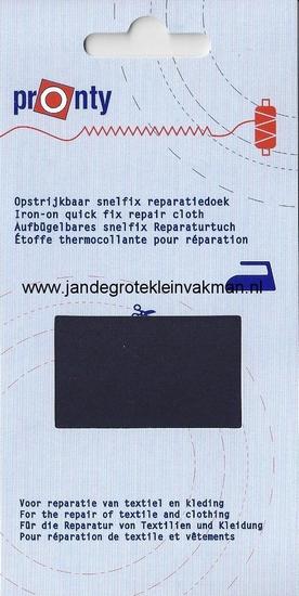 Pronty snelfix opstrijkb. reparatiedoek, donkerblauw