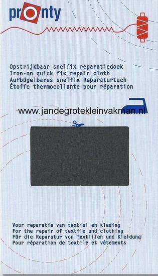Pronty snelfix opstrijkb. reparatiedoek, donkergrijs