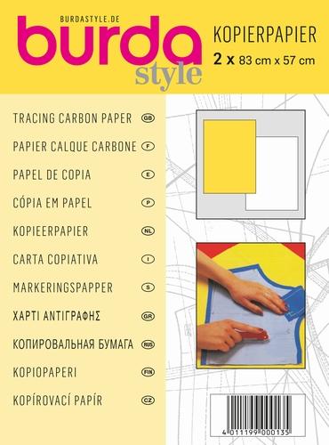Burda kopieerpapier voor patronen, geel en wit