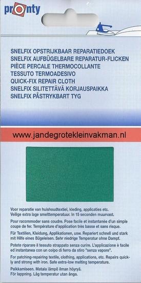 Pronty snelfix opstrijkb. reparatiedoek, hardgroen