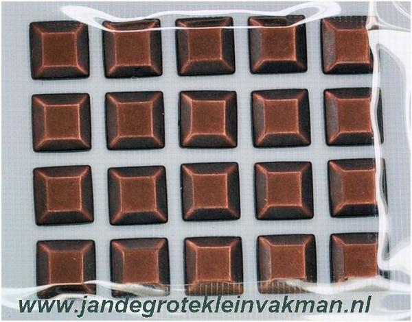 Studs opstrijkbaar bronskleur ca. 8mm x 8mm, 20 stuks