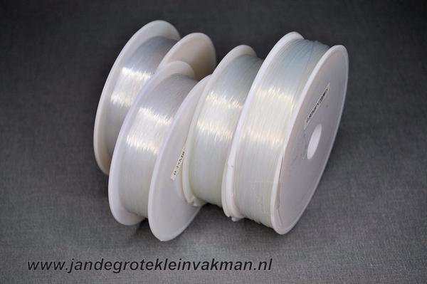 Nylon sieradengaren 0,35mm, rol van ca. 100 meter