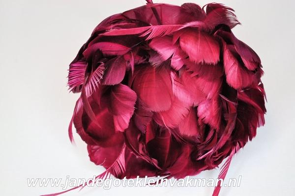 Veren corsage donkerrood, large