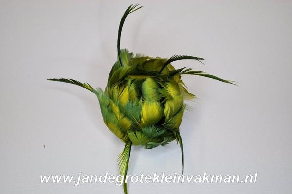 Veren corsage groen, small