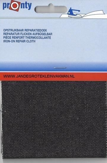Pronty opstrijkbaar reparatiedoek, zwart jeans