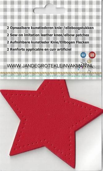 Opnaaibare knie/elleboogstukken, 2 stuks,  rood