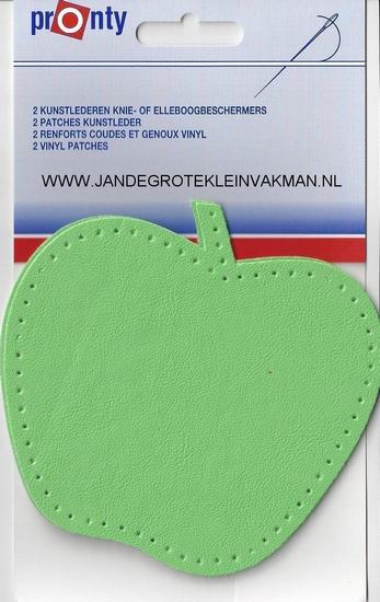 Pronty opnaaibaar kunstleder, appel, groen, 2 st.