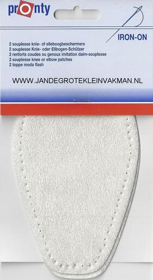 Pronty opstrijk- opnaaibare elleboogstukken ecru, 2 st.